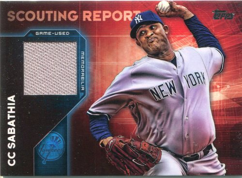 Photo of 2016 Topps Scouting Report Relics CC Sabathia -- Yankees post-season