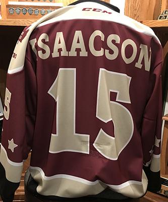 Nick Isaacson (#15) - Game-Worn Petes Alumni Homecoming Jersey