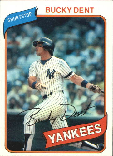 Photo of 1980 Topps #60 Bucky Dent