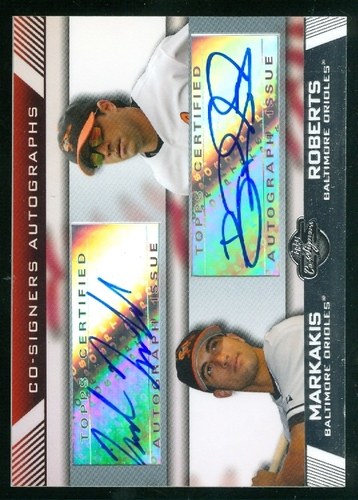 Photo of 2007 Topps Co-Signers Dual Autographs #MB Nick Markakis/Brian Roberts B