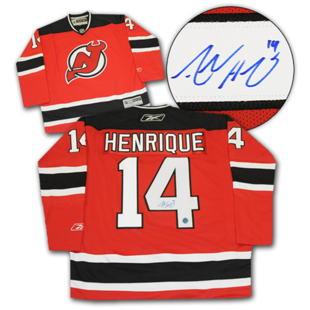 Adam Henrique New Jersey Devils Autographed NHL Reebok Premier Hockey Jersey