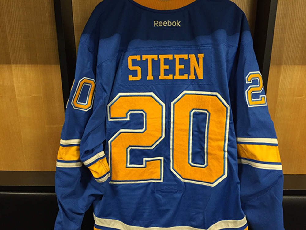 Alexander Steen Winter Classic Game-worn Jersey