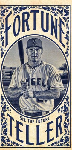 Photo of 2017 Topps Gypsy Queen Fortune Teller Mini #FTMT Mike Trout