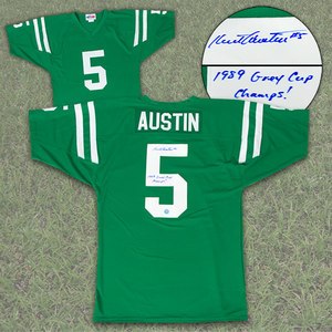 Kent Austin Saskatchewan Roughriders Autographed Custom CFL Football Jersey