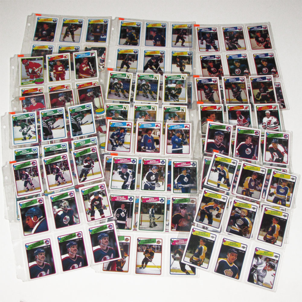 Lot of 1980s O-PEE-CHEE Hockey Cards - Trottier, LaFontaine, Lafleur, Gainey, Robitaille & More - 130+