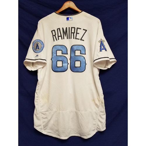 Photo of JC Ramirez Game-Used Blue Fathers Day Jersey