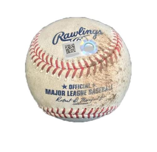 Photo of Game-Used Baseball from Pirates vs. Reds on 9/1/17 - Neverauskas to Gennett, Ball