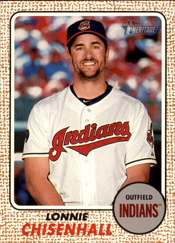 Photo of 2017 Topps Heritage #21 Lonnie Chisenhall -- Indians post-season