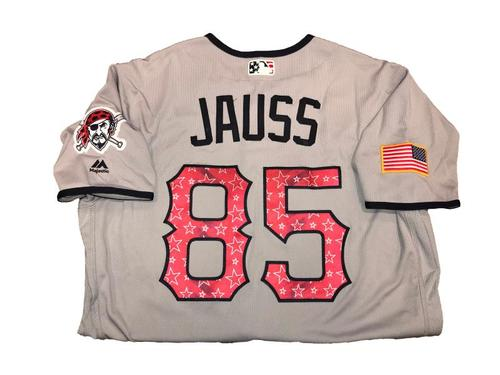 Dave Jauss Game-Used Road Gray Stars and Stripes Jersey