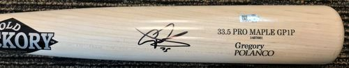 Photo of Gregory Polanco Autographed Bat