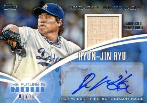 Photo of 2014 Topps The Future is Now Autograph Relics #FNARHR2 Hyun-Jin Ryu