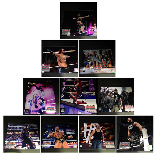 Photo of 10 Superstar SIGNED WrestleMania Commemorative Photos (#32 of 32)