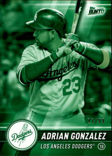 Photo of 2017 Topps Bunt Green #58 Adrian Gonzalez /99
