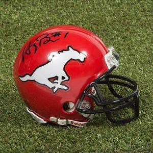 Henri Burris Calgary Stampeders Autographed CFL Football Mini-Helmet
