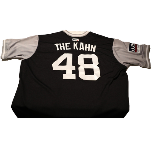 "Photo of Tommy ""The Kahn"" Kahnle New York Yankees Game-Used Players Weekend Jersey"