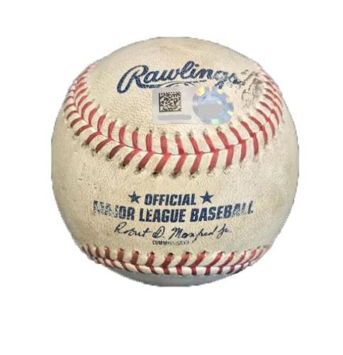 Photo of Game-Used Baseball from Pirates vs. Reds on 9/1/17 - Storen to Harrison, Double
