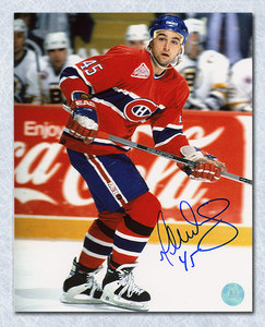 GILBERT DIONNE Montreal Canadiens SIGNED 8x10 Photo
