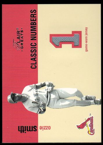 Photo of 2003 Flair Greats Classic Numbers Game Used #11 Ozzie Smith Jsy