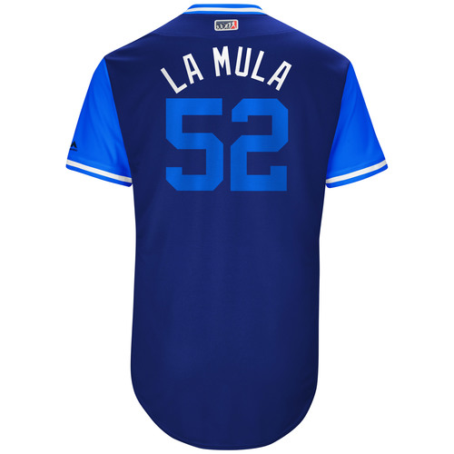 "Photo of Pedro ""La Mula"" Baez Los Angeles Dodgers Game-Used Players Weekend Jersey"