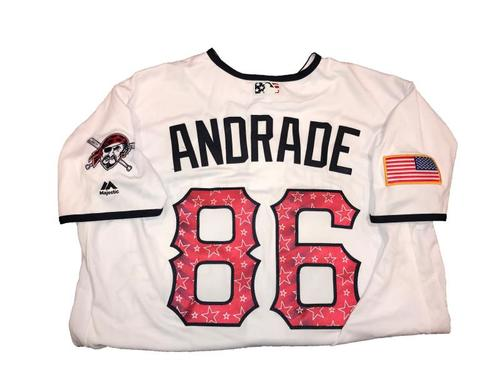 Heberto Andrade Game-Used Home White Stars and Stripes Jersey