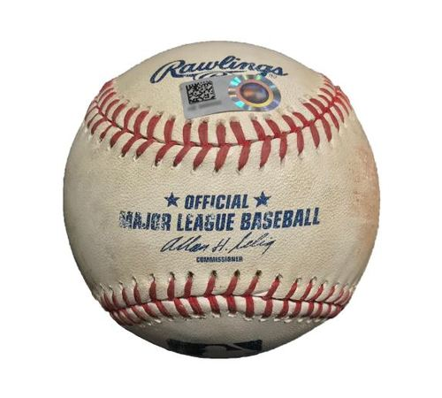 Photo of Game-Used Baseball from Pirates vs. Cubs on 9/14/14 - Neil Walker Single