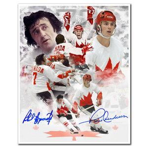 Phil Esposito & Paul Henderson Team Canada 1972 Summit Series Dual Autographed 8x10