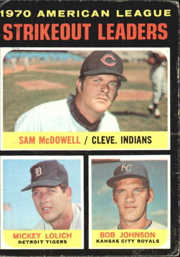 Photo of 1971 Topps #71 AL Strikeout Leaders/Sam McDowell/Mickey Lolich/Bob Johnson