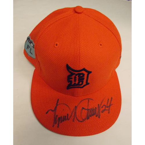 Photo of Autographed Team-Issued Miguel Cabrera Road Spring Training Cap