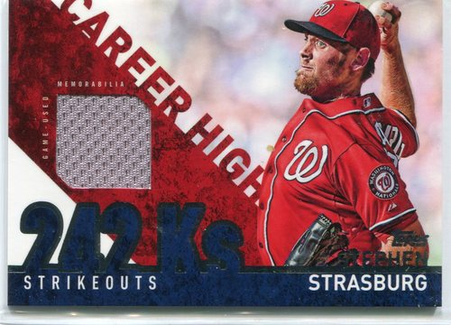Photo of 2015 Topps Career High Relics #CHRSS Stephen Strasburg -- Nationals post-season