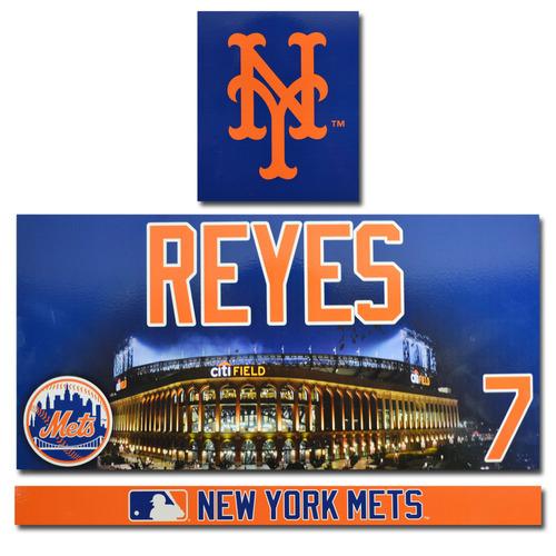 Jose Reyes #7 - Citi Field Locker Nameplate Set - 2017 Season