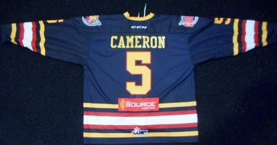 5 Christopher Cameron warmup jersey