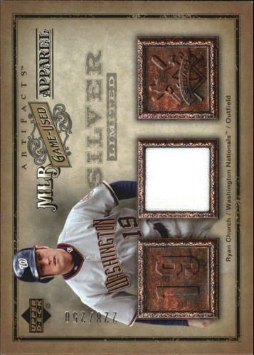 Photo of 2006 Artifacts MLB Game-Used Apparel Silver Limited #RC Ryan Church Jsy/250