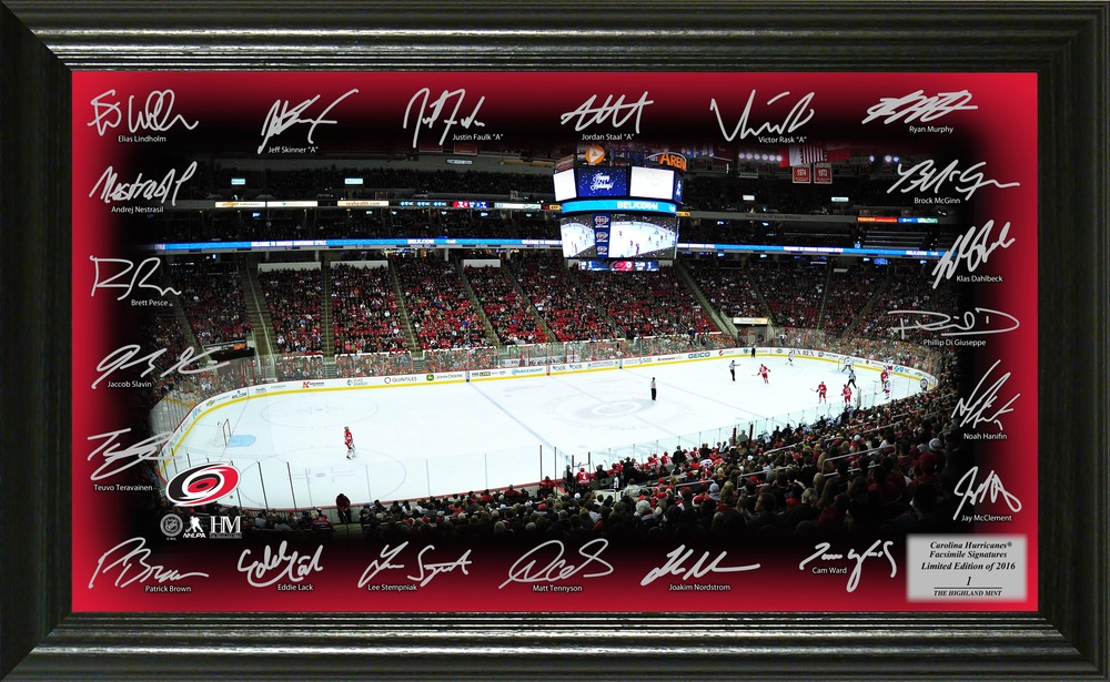 Serial #1 Carolina Hurricanes Signature Rink