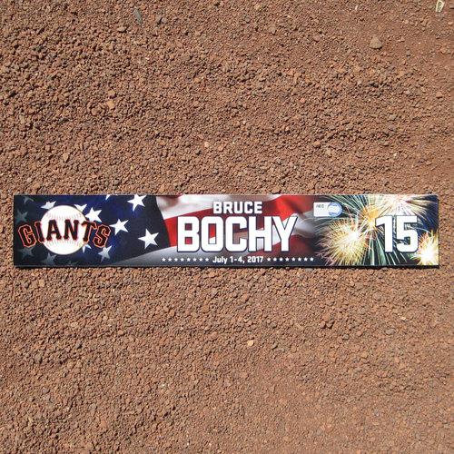 Photo of San Francisco Giants - 2017 Stars and Stripes Locker Nameplate - Bruce Bochy