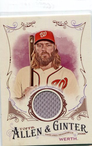 Photo of 2016 Topps Allen and Ginter Relics #FSRBJW Jayson Werth -- Nationals post-season