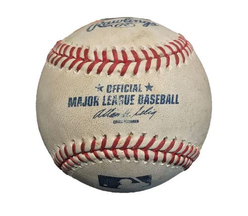 Photo of Game-Used Baseball from Pirates vs. Blue Jays on 5/2/14 - Edwin Encarnacion RBI Double