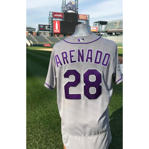Photo of Colorado Rockies Nolan Arenado Game-Used Post Season Jersey - 2017 NL Wild Card Game