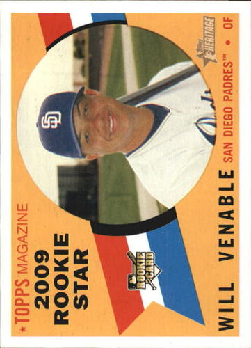 Photo of 2009 Topps Heritage #123 Will Venable RC