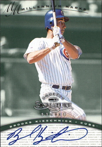 Photo of 1997 Donruss Signature Autographs Millennium #73 Brooks Kieschnick