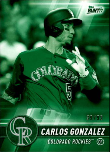 Photo of 2017 Topps Bunt Green #132 Carlos Gonzalez /99