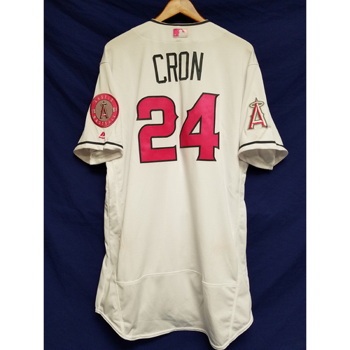 Photo of C.J. Cron Game-Used Home Mother's Day Jersey