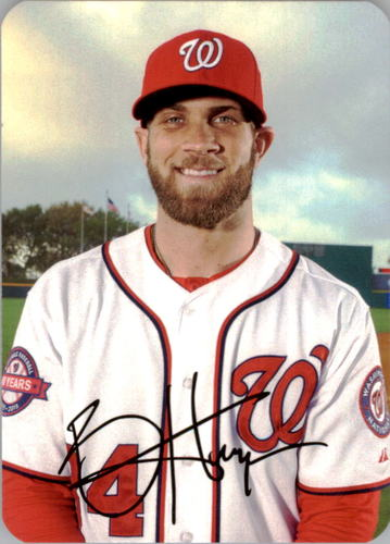 Photo of 2016 Topps Archives '69 Topps Super Bryce Harper -- Nationals post-season