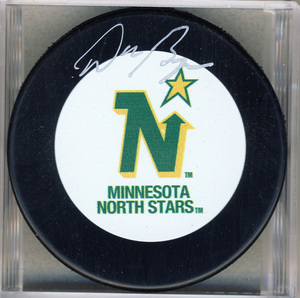 Don Beaupre Minnesota North Stars Autographed Hokey Puck