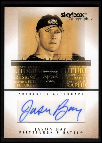 Photo of 2005 SkyBox Autographics Future Signs Autograph Gold #JB Jason Bay