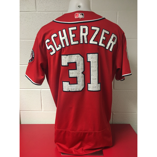 Photo of Game-Used Jersey - Max Scherzer