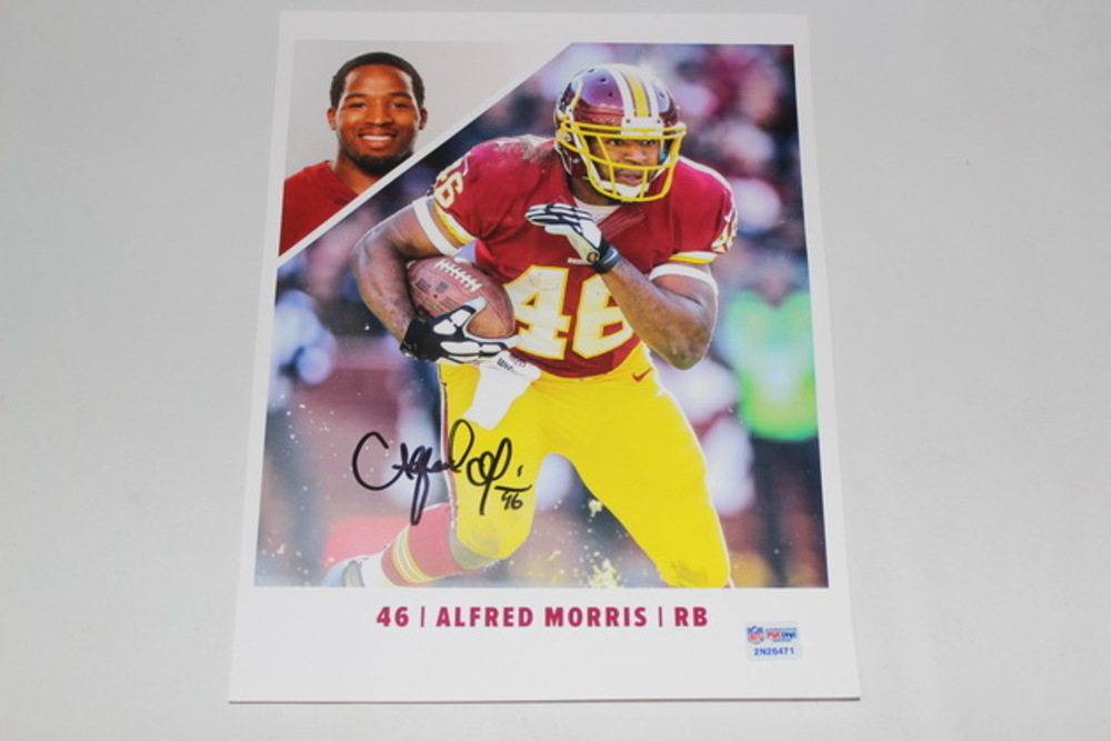 REDSKINS - ALFRED MORRIS SIGNED 8X10 PHOTO