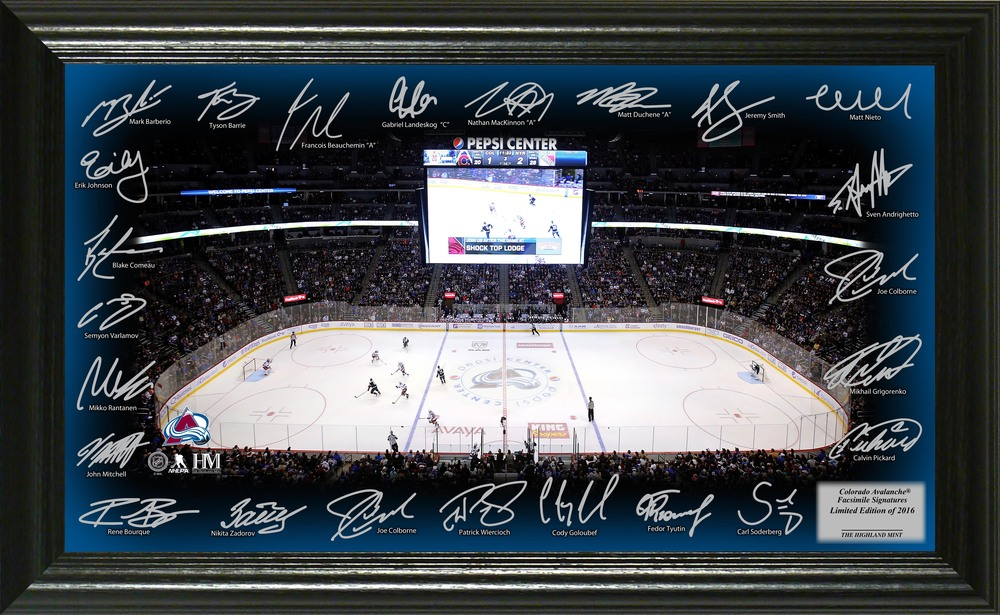 Serial #1 Colorado Avalanche Signature Rink