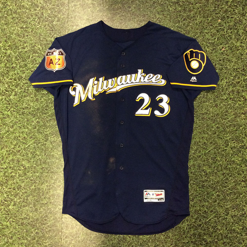Photo of Keon Broxton 2017 Game-Used Spring Training Jersey