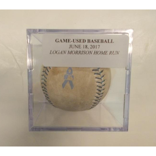 Photo of Game-Used Logan Morrison Home Run Ball