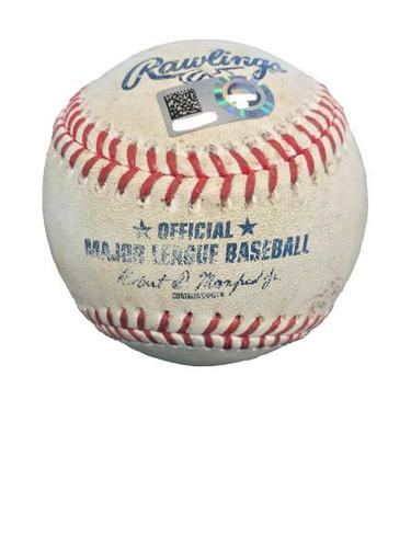 Photo of Game-Used Baseball from Pirates vs. Cubs on 6/16/17 - Butler to Bell, 2 RBI Triple